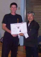 Jim Cairns 5th Degree Black Sash & Lau Gar Guardian